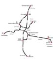 Straßenbahn Freiburg Liniennetzplan 1950.png