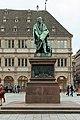 Strasbourg, place Gutenberg, statue de Gutenberg, David d'Angers 05.jpg