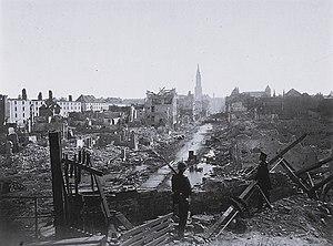 Siege of Strasbourg - Image: Strassburg vom Steintor aus 28 Sept 1870