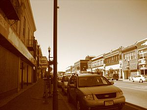 Street in Hibbing, Minnesota in August 2007