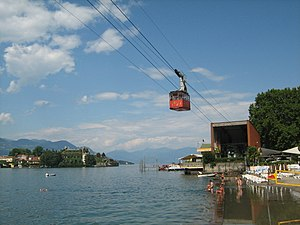 Stresa - The cable car to Monte Mottarone