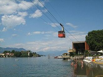 Stresa - The cable car to Monte Mottarone