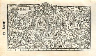 Coat of arms of Valais - Image: Stumpf Froschauer Landtaflen Wallis