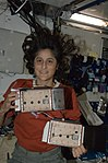 Suni Williams with spider experiments.jpg