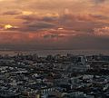 Sunset over SOMA as seen from 100 Van Ness Avenue.jpg