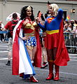 Supergirl and Wonder Woman 2006 Pride Parade.jpg