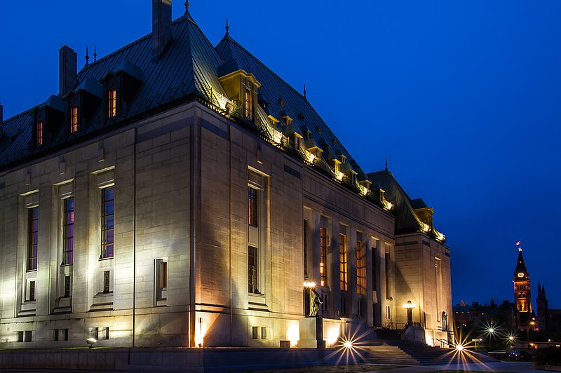 File:Supreme Court of Canada by night.jpg