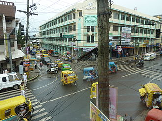 Surigao City - Intersection of Rizal and Amat Streets as of March 1, 2010