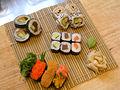 Sushi on mat.jpg