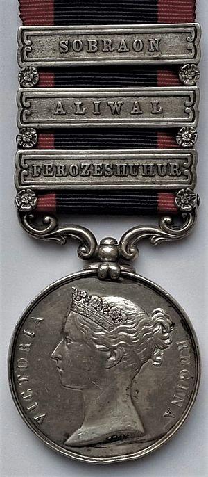 Sutlej Medal - Image: Sutlej Medal, obverse