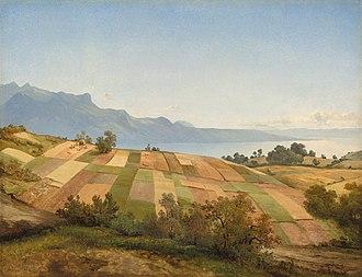 Alexandre Calame - Swiss Landscape by Alexandre Calame