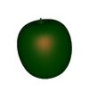 Symbolic parametric surface apple green white background.png