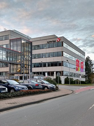 Symrise headquarters in Holzminden, Germany Symrise 2017.jpg