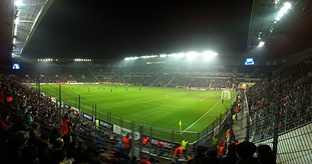 Sinobo Stadium is the biggest and the most modern football stadium in the Czech Republic Synot Tip Arena - Viktoria Plzen - FC Barcelona 0-4.jpg