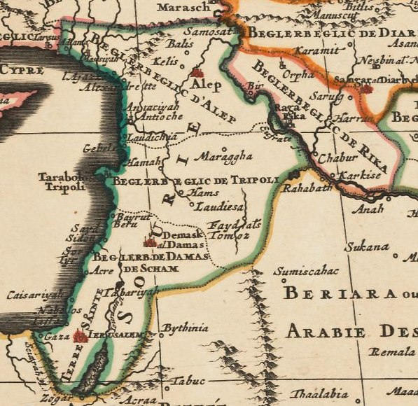Syria,-detail-from-Ottoman-Empire- by Jaillot
