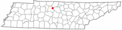 Location of Lakewood, Tennessee