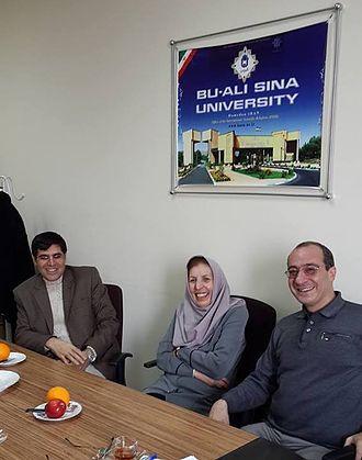 Jaleh Amouzgar - from right to left: Omid Tabibzadeh, Zhaleh Amuzegar and Ali Mohammadi, 2014