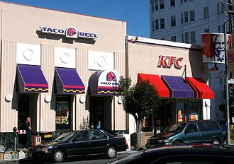 Yum! Brands - A single Yum! restaurant facility co-branded as Taco Bell and KFC in San Francisco, California