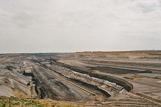 Garzweiler surface mine - Panoramic view of Tagebau Garzweiler