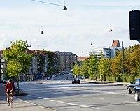 Tagensvej from Bisbebjerg Station towards Bispebjerg.jpg