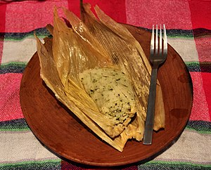 Culture of Guatemala - Chipilín Tamal, a common dish usually eaten at dinner.