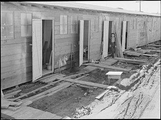 Tanforan Racetrack - 1942 Tanforan Assembly Center barracks.