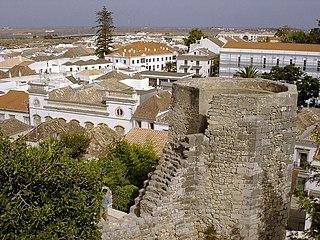 Castle of Tavira building in Tavira Municipality, Faro District, Portugal