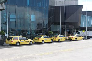 Taxicab stand - A taxi rank outside Melbourne Convention and Exhibition Centre in Melbourne, Australia