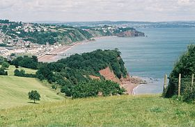 Teignmouth vu du South West Coast Path