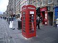 Telephone box, High Street - Edinburgh - geograph.org.uk - 973486.jpg
