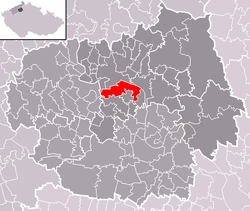 Location of Terezín
