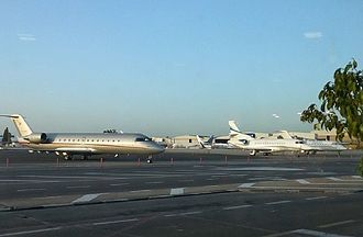 Ben Gurion Airport - Private jets on the apron at Terminal 1