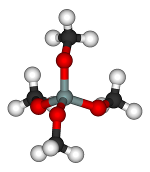 Tetramethyl orthosilicate - Image: Tetramethyl orthosilicate 3D