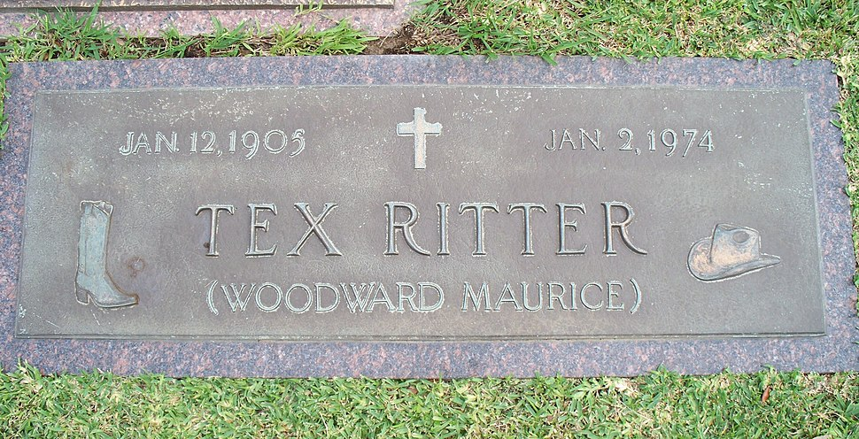 Tex Ritter grave marker Port Neches Texas