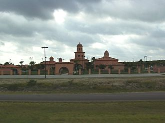 Visitor center - Texas Travel Information Center located near Laredo, Texas along I-35, 18 miles from the Mexico – United States border.