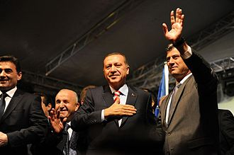 Hashim Thaçi - Thaçi joined by his Turkish counterpart Recep Tayyip Erdoğan, 3 November 2010