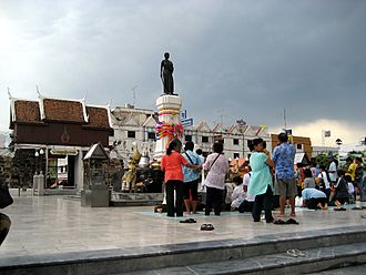 Nakhon Ratchasima Province - Statue of Lady Mo in Khorat city centre