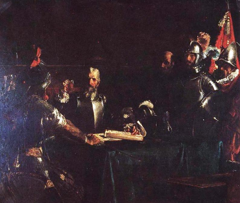 The Blood Compact by Juan Luna