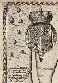 The Carte of all the Coast of Virginia by Theodor de Bry - top left corner detail.jpg