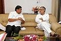 The Chief Minister of Karnataka, Shri Jagadish Shettar meeting the Union Minister for Road Transport and Highways, Dr. C.P. Joshi, in New Delhi on August 17, 2012.jpg