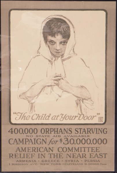 File:The Child At Your Door, 400,000 Orphans Starving, no state aid available, Campaign for $30,000,000. American... - NARA - 512726.tiff