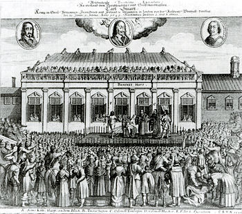 The beheading of Charles I (contemporary German pressure)