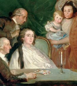 Risultati immagini per goya la famiglia dell'infante don luis