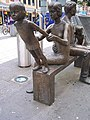 The Family sculpture by Robert Thomas, Cardiff Queen Street - geograph.org.uk - 624471.jpg