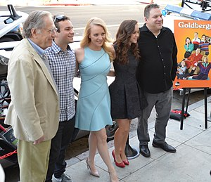 George Segal - Segal (left) with The Goldbergs cast, 2014