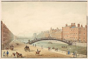 The Ha'Penny Bridge, Dublin - Image: The Ha'Penny Bridge Dublin Samuel Frederick Brocas