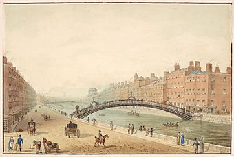 The Ha'Penny Bridge Dublin - Samuel Frederick Brocas.jpg