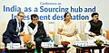 "The Minister of State for Commerce & Industry (Independent Charge), Smt. Nirmala Sitharaman chairing the conference titled ""India as a Sourcing hub and Investment destination"", at Textiles India 2017, in Gandhinagar, Gujarat.jpg"