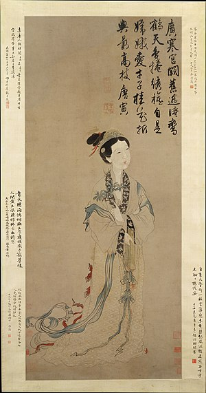 Chang'e - Ming dynasty painting The Moon Goddess Chang E