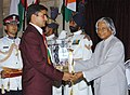 The President Dr. A.P.J. Abdul Kalam presenting the Arjuna Award -2005 to Shri Ramesh Kumar for Kabaddi, at a glittering function in New Delhi on August 29, 2006.jpg